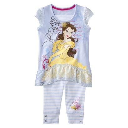Disney® Princess Infant Toddler Girls 2-Piece Belle Tunic Set - Blue $20.00