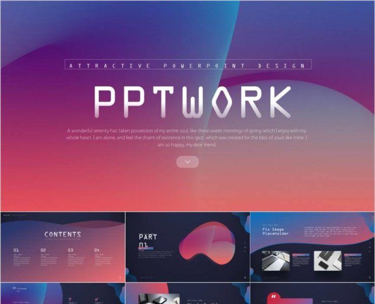 colorful powerpoint templates - Pcslide#powerpoint #templates