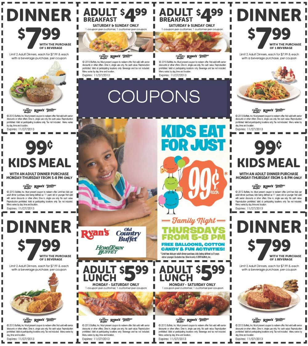 Coupons for fire mountain buffet