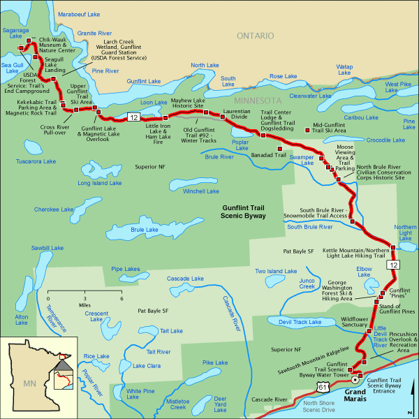 Gunflint Trail Scenic Byway Map Americas Byways