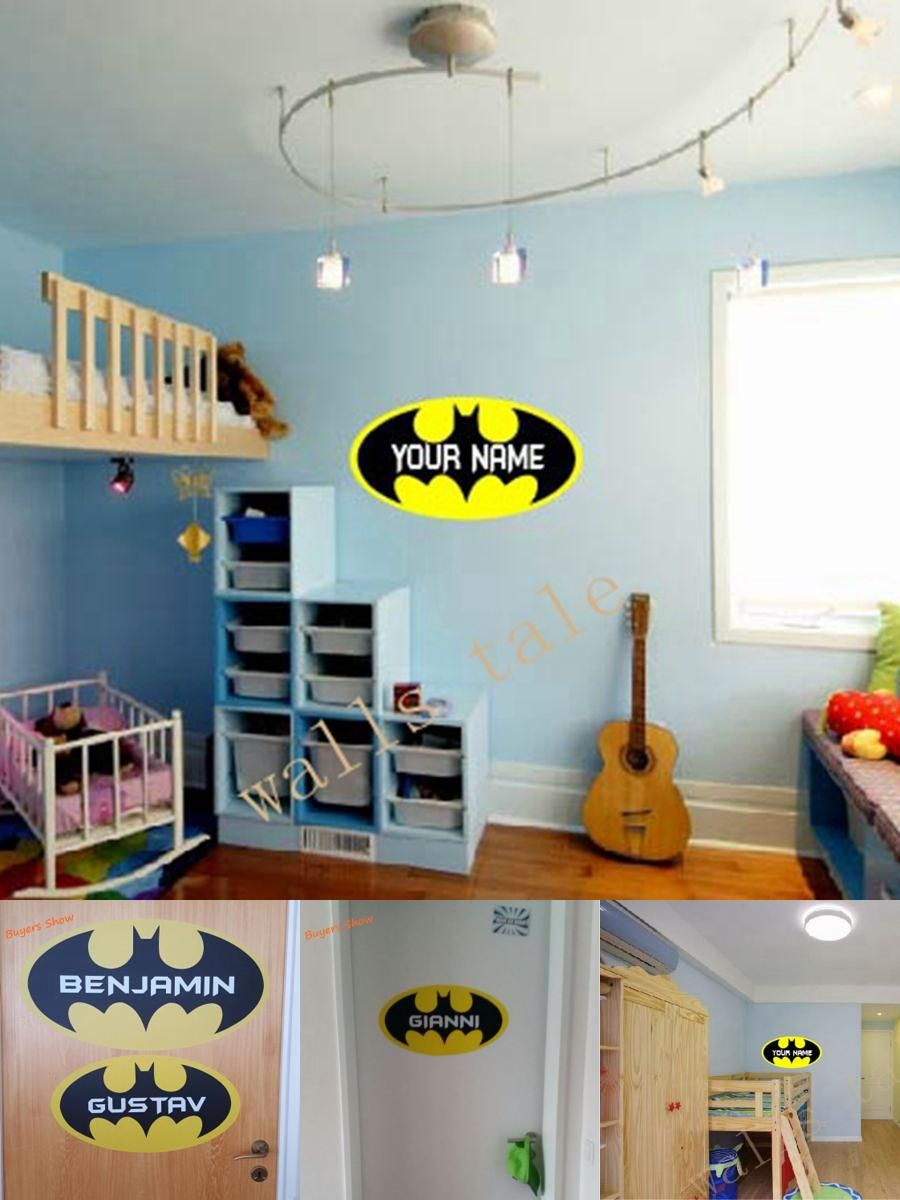 Visit To Buy Free Shipping Personalized Batman Loge Vinyl Wall - Advertize monogram wall decals
