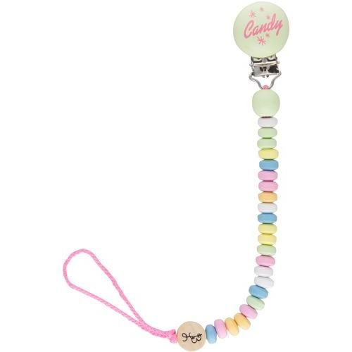 Bink Link Candy Necklace Pacifier Clip. Excellent for keeping baby's paci secure, and the faux candy necklace design is just too cute.
