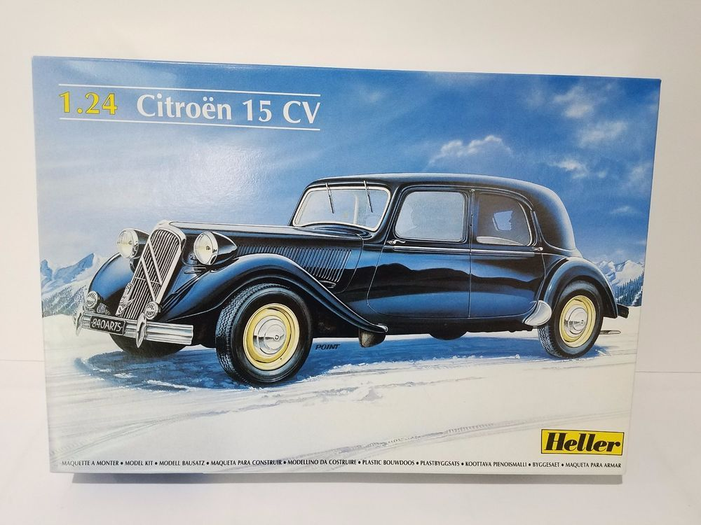 Heller Citroen 15 Cv Traction Avant 1 24 Scale Model Car Kit 80763 France Heller Model Cars Kits Scale Models Cars Car Model