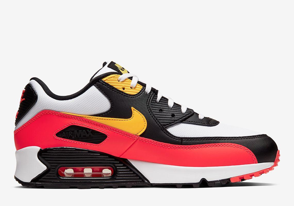 Nike Air Max 90 Black Red Yellow AJ1285 109 | Air max 90