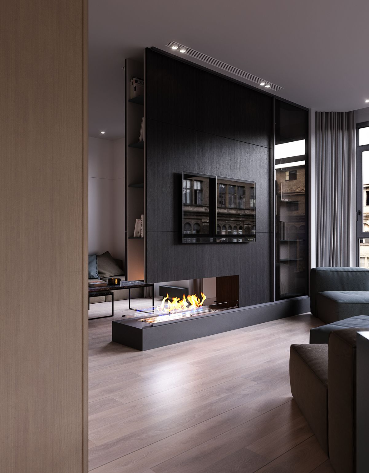 Interior Design Fireplace Living Room: Design Studio Ruslan Kovalchuk On Behance