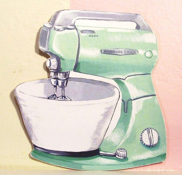 Kitchen Art Mixer: Kitchen Art Prints, Retro Appliances