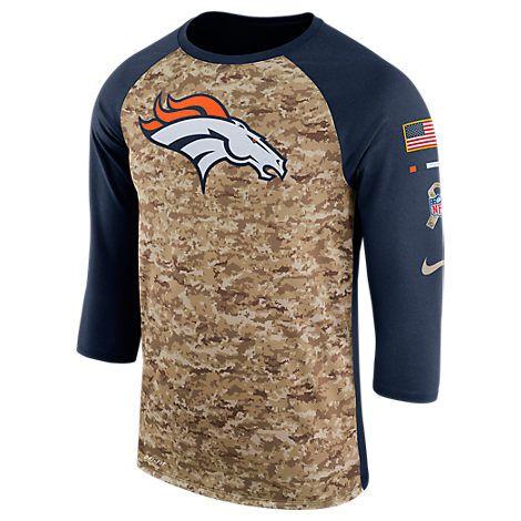 NIKE MEN S DENVER BRONCOS NFL SALUTE TO SERVICE RAGLAN T-SHIRT d82c7bfbf