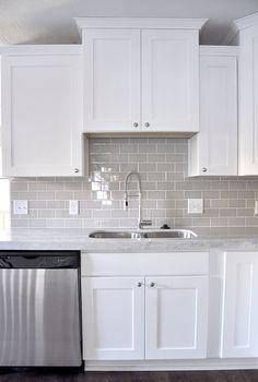 Smoke Glass Subway Tile Kitchen Tiles Backsplash Kitchen Cabinets Decor Kitchen Tiles