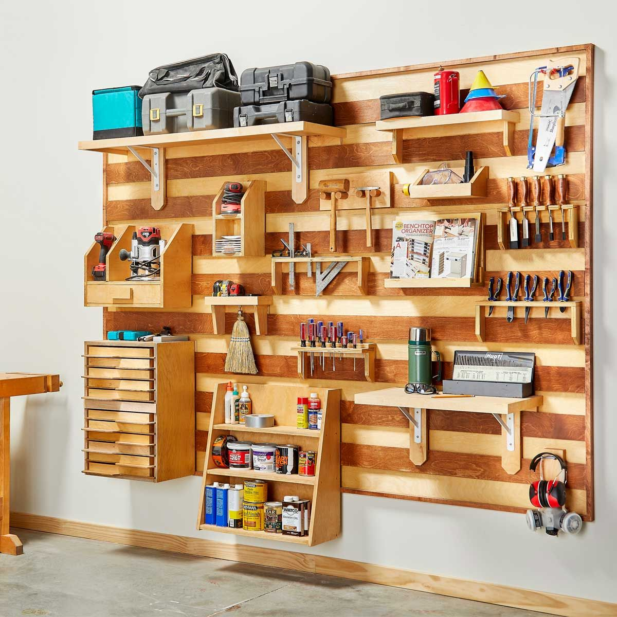 How To Build A French Cleat Tool Storage Wall Tool Wall Storage