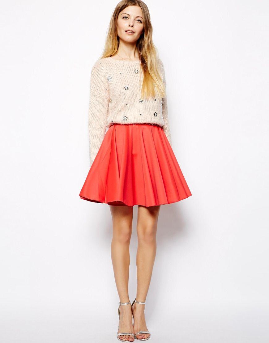 mini skirt + sweater