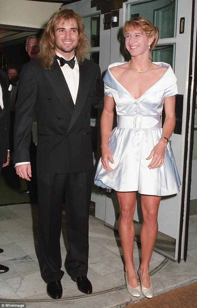 Andre Agassi And Steffi Graf At The Wimbledon Winners Ball In 1982 Pair