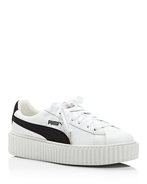Lace In White | Platform sneakers, Women's creepers, Fenty ...