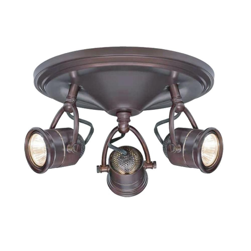 Hampton Bay Ceiling Track Lighting Kit 4-Light Dimmable Semi-Flush Mount
