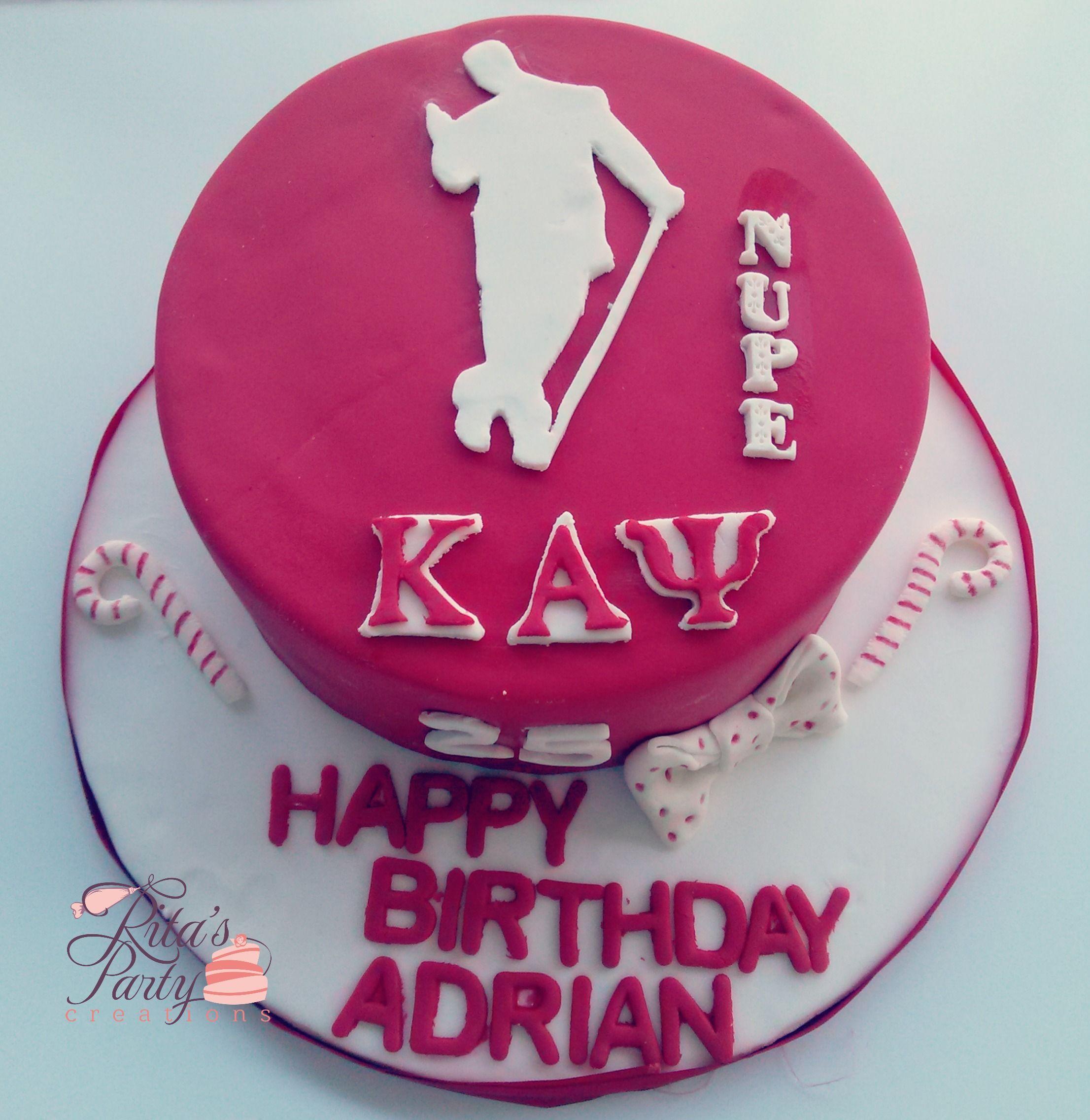 Kappa Alpha Psi Fraternity Birthday Cake Kappa Man
