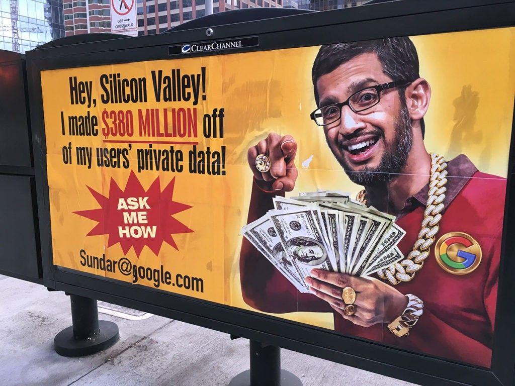 Conservative Street Artist Sabo Mocks Google CEO Sundar