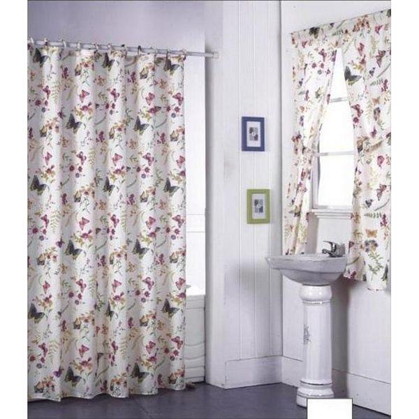 Bathroom Window And Shower Curtain Sets Ideas Pinterest Shower - Bathroom window curtain sets