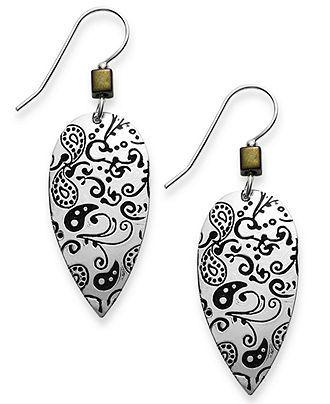 Jody Coyote Silver-Plated Brass Earrings, Antique Teardrop Earrings - FINE JEWELRY - Jewelry & Watches - Macy's