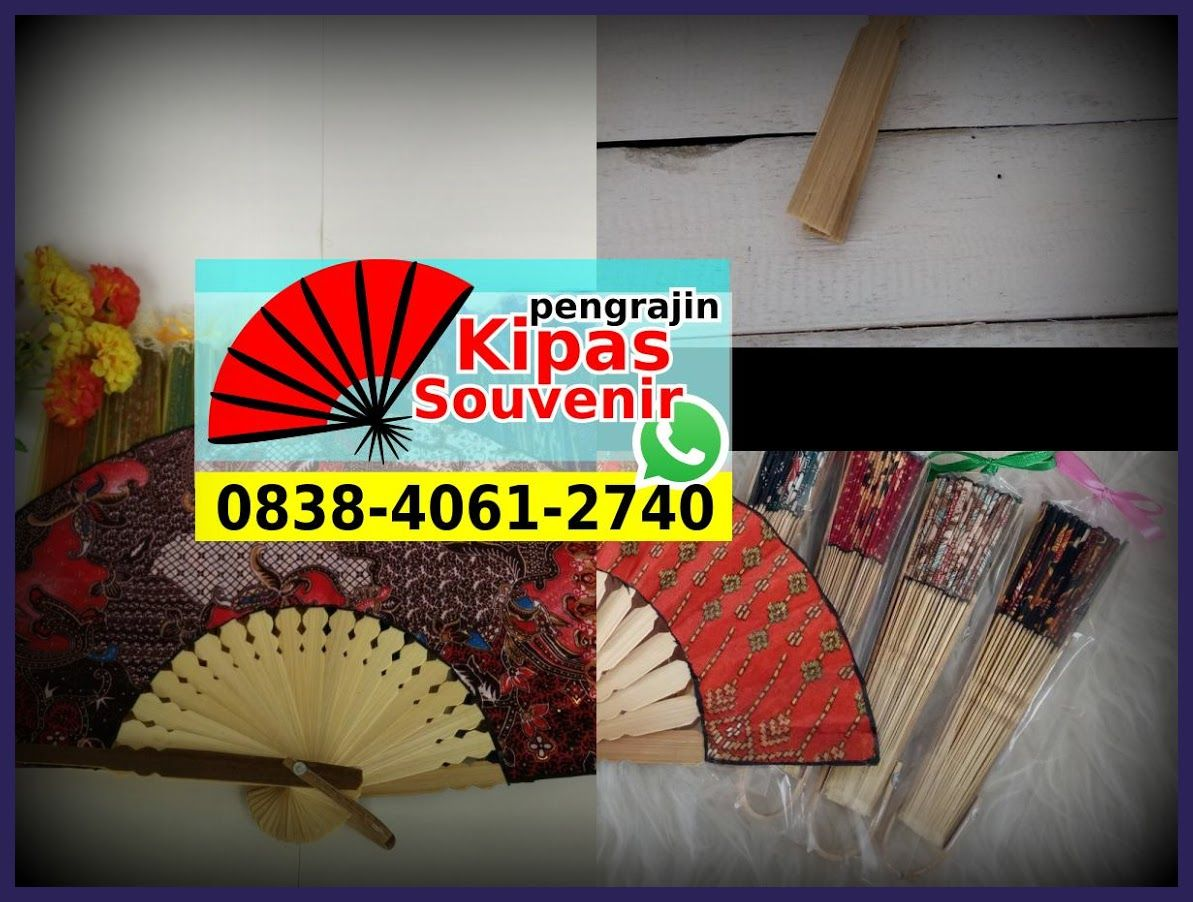Kain Batik Kipas Belakang Souvenir Kipas Ulos Souvenir Kipas Di