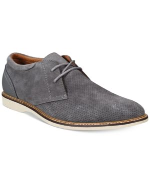Bar Iii Men's Collin Perforated Oxfords, Only at Macy's - Gray 10.5