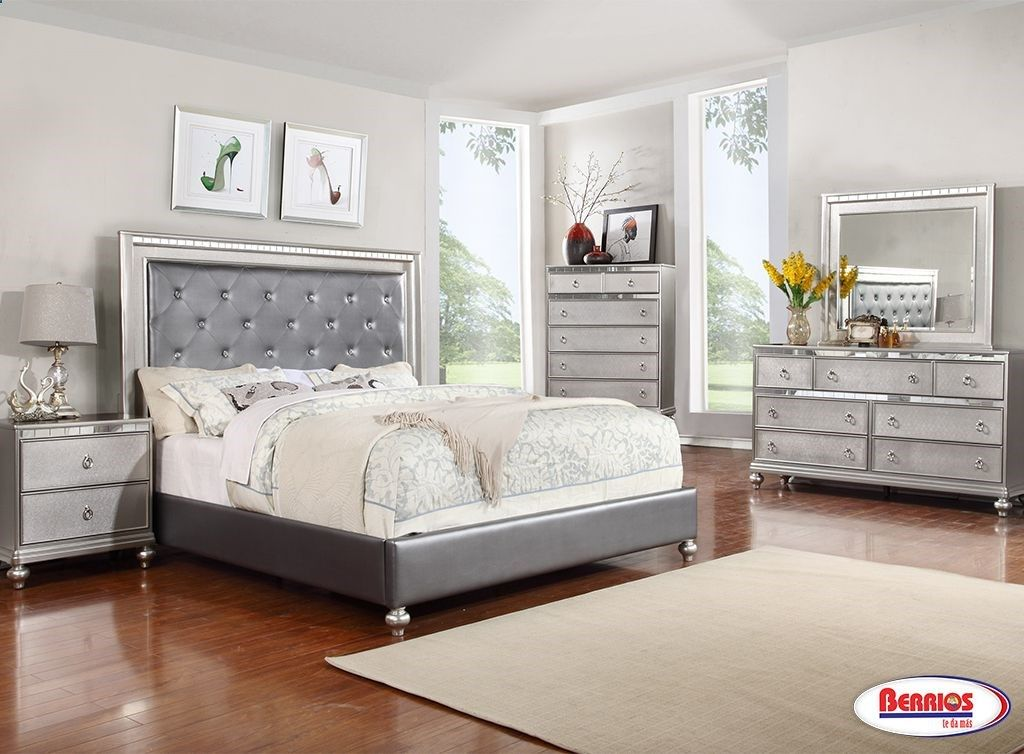 Homelegance Allura Bedroom Set with LED Lighting Bedroom