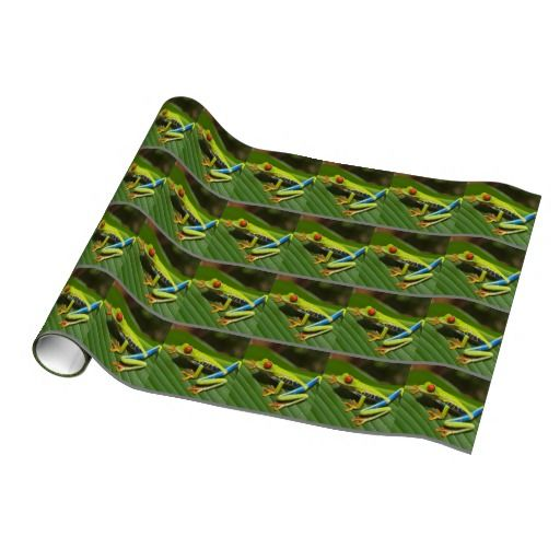 Beautiful red eyed tree frog gift wrap paper