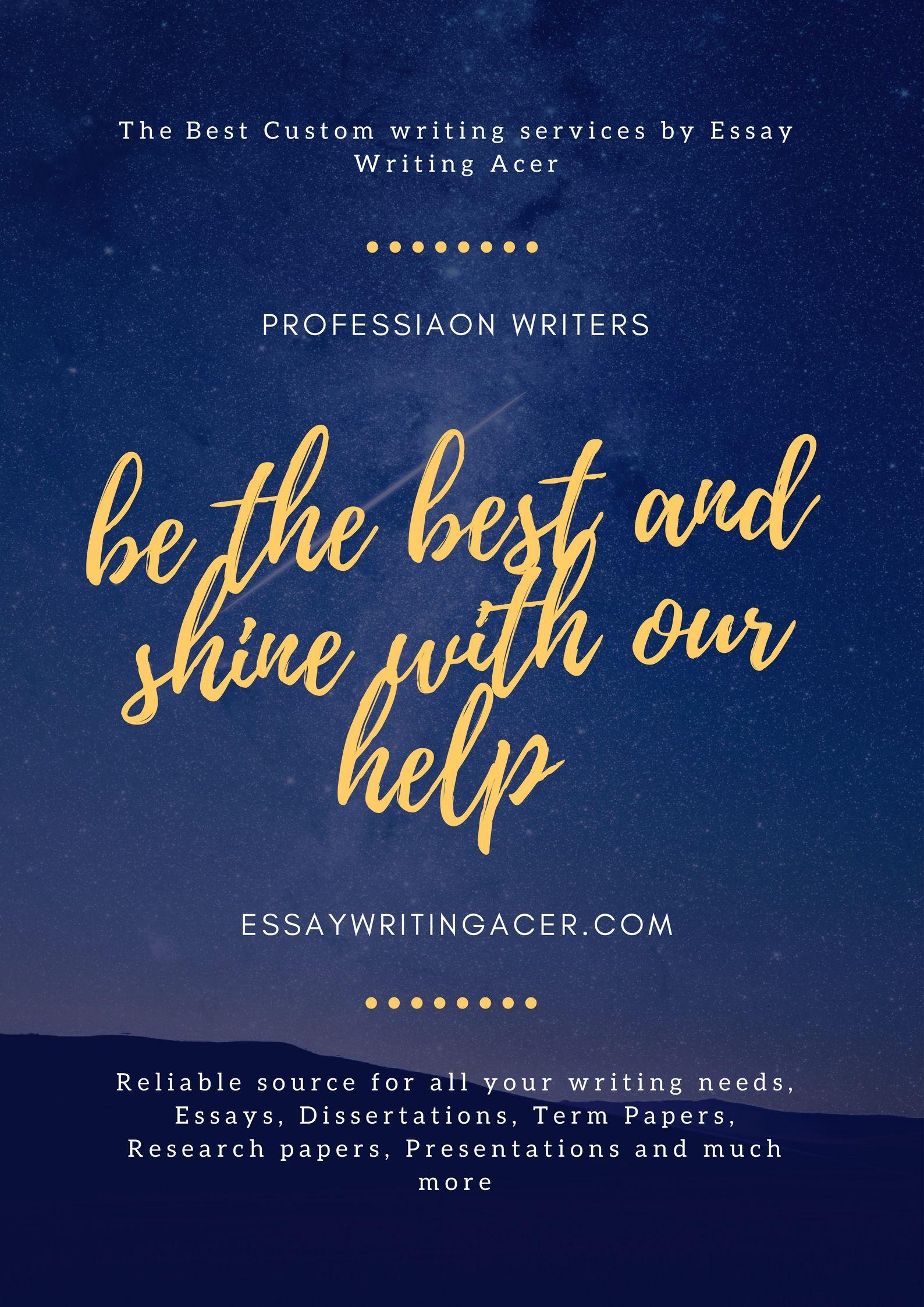The best custom essay writing service