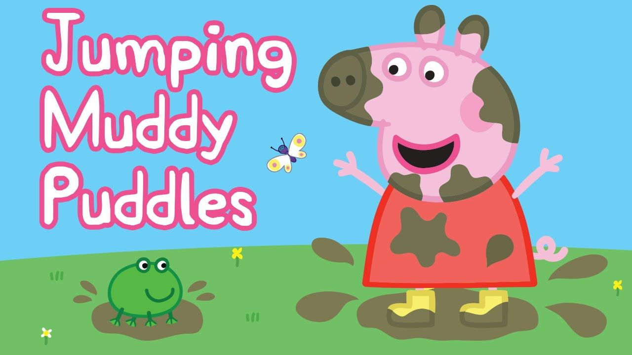 Peppa Pig Painting - Jumping Muddy Puddles Coloring Pages | Coloring ...