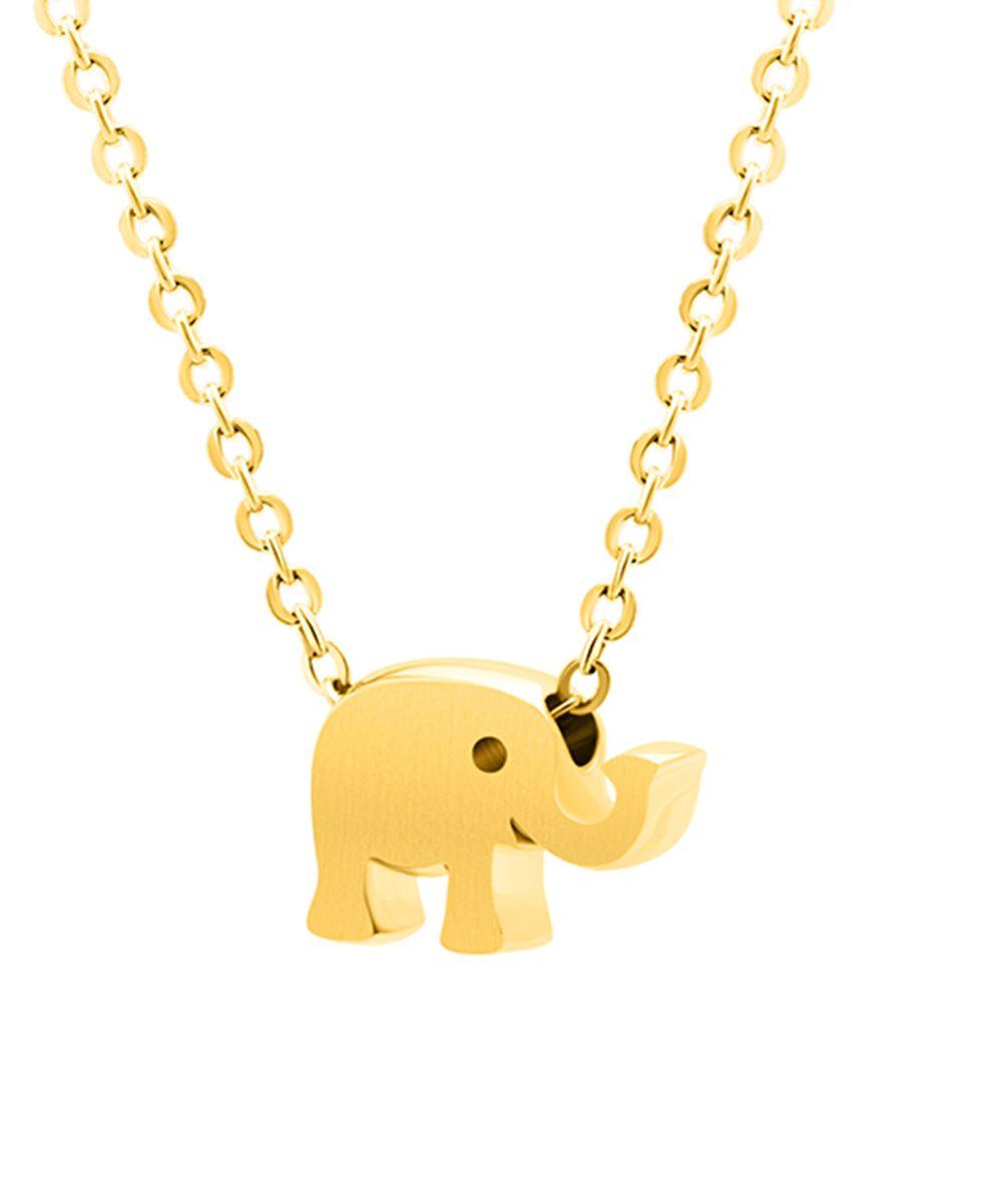 Goldtone Elephant Pendant Necklace