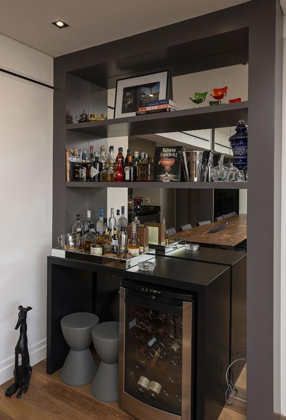 Barzinho Com Imagens Bar Em Casa Bar De Parede Bar Em