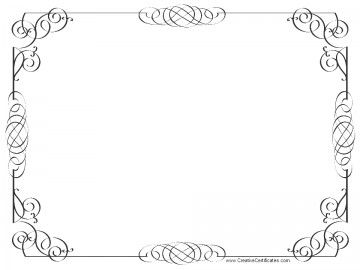 black and white certificate border