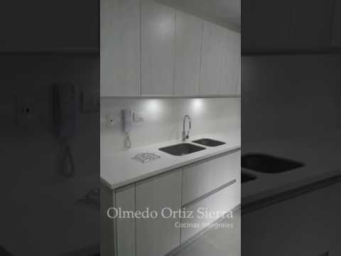 Cocina Integral Blanca en U #cocinasintegrales #diseñococinas - Cocinas Integrales Blancas