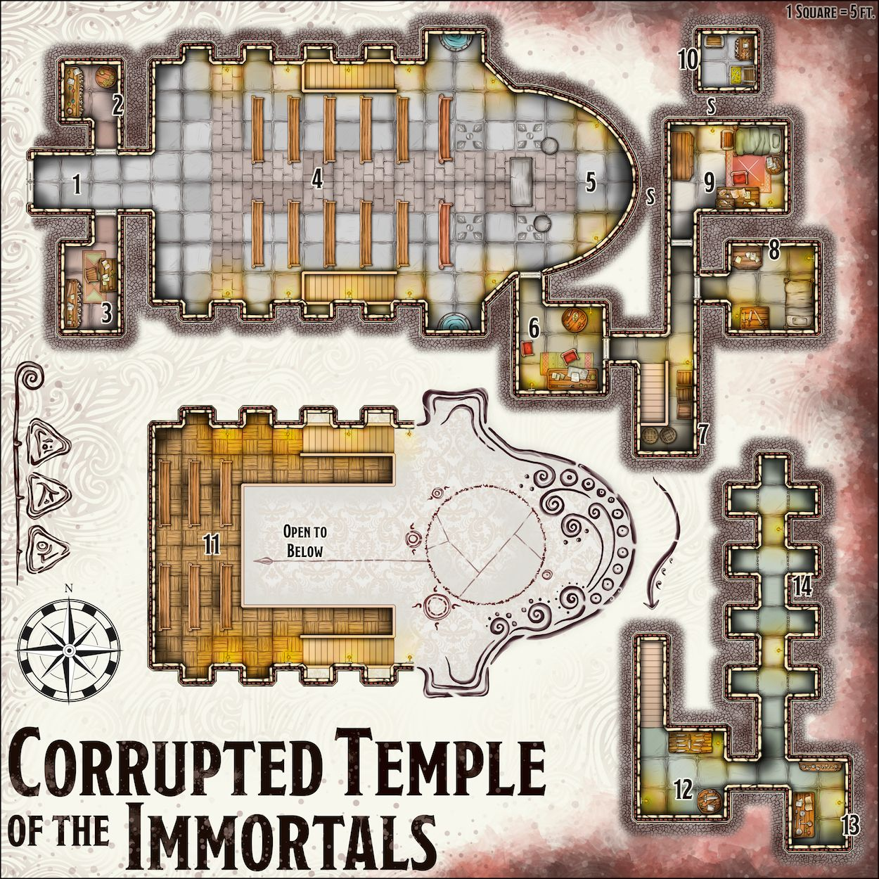 The Chapel Of The Ancients In 2020 Dungeon Master Dungeon Maps Map