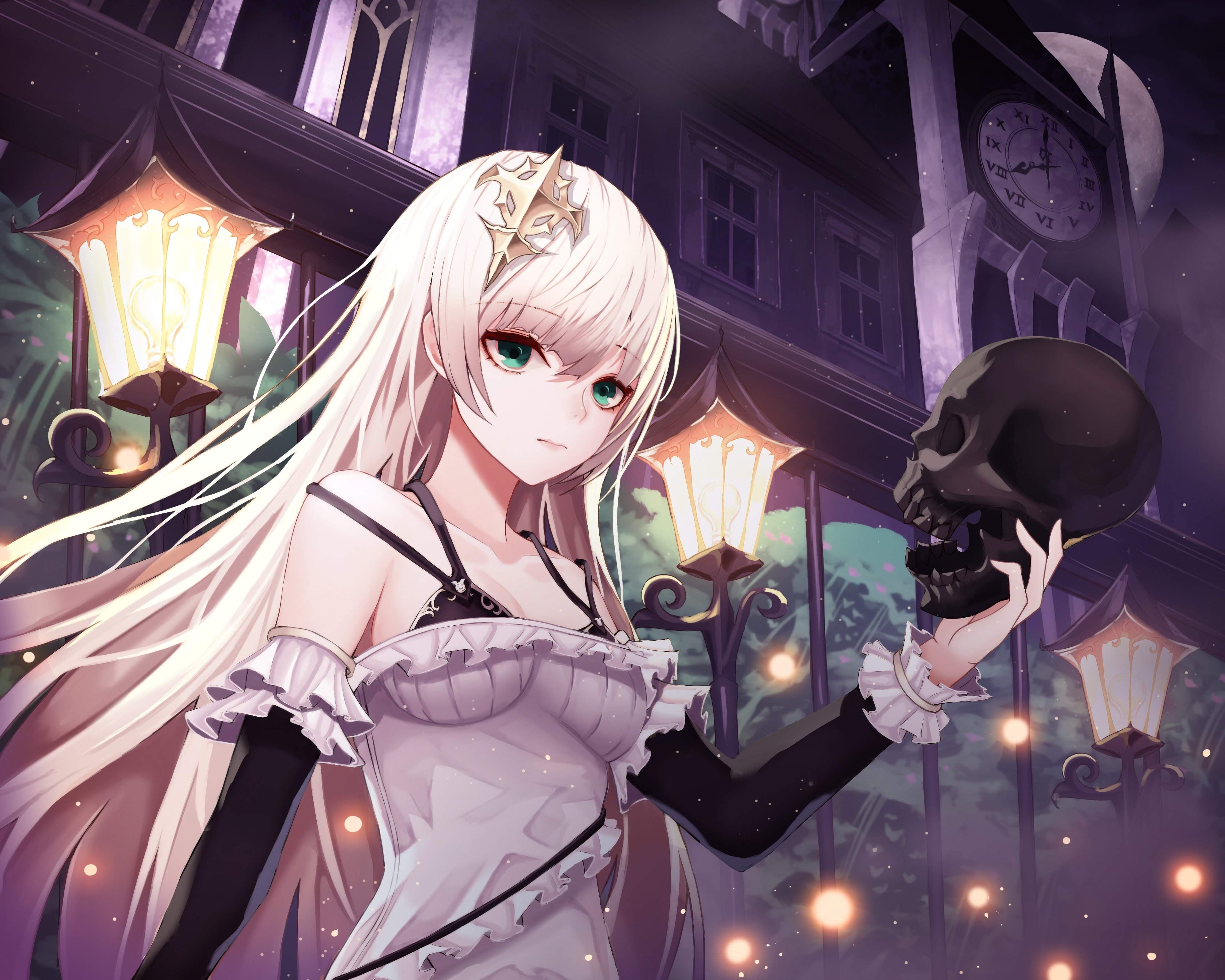 Pin On Anime Girl With White Hair