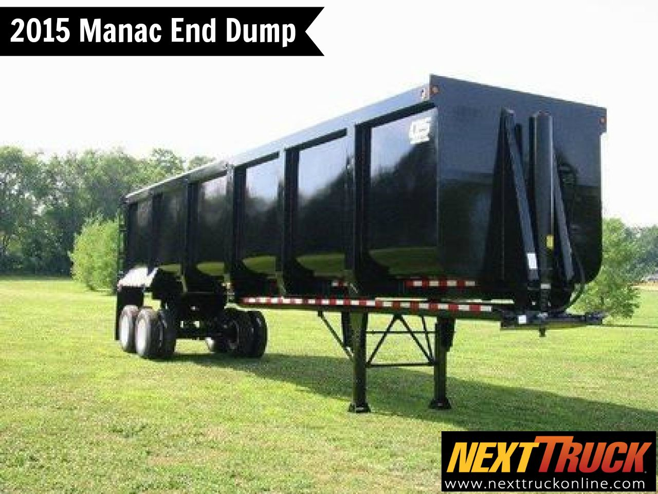 Our featured trailer is a 2015 manac end dump 40