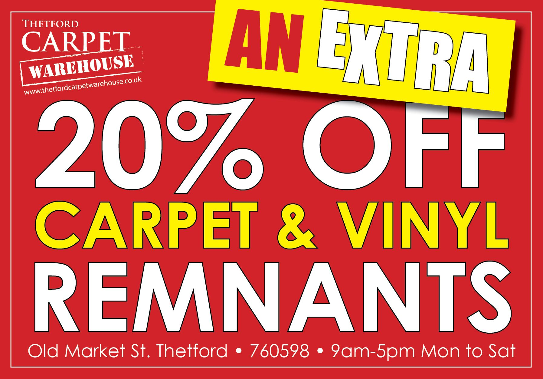 Our Biggest Stock Clearance Carpet Furniture Sale At Thetfordcarpetwarehouse An Extra 20 Of Carpet Warehouse Carpet Sale Carpet