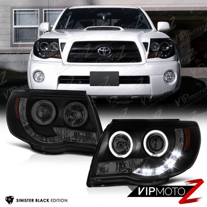 Toyota Tacoma 05 11 Pickup Trd Black Halo Angel Eye Projector Headlight Lamp Vipmotoz