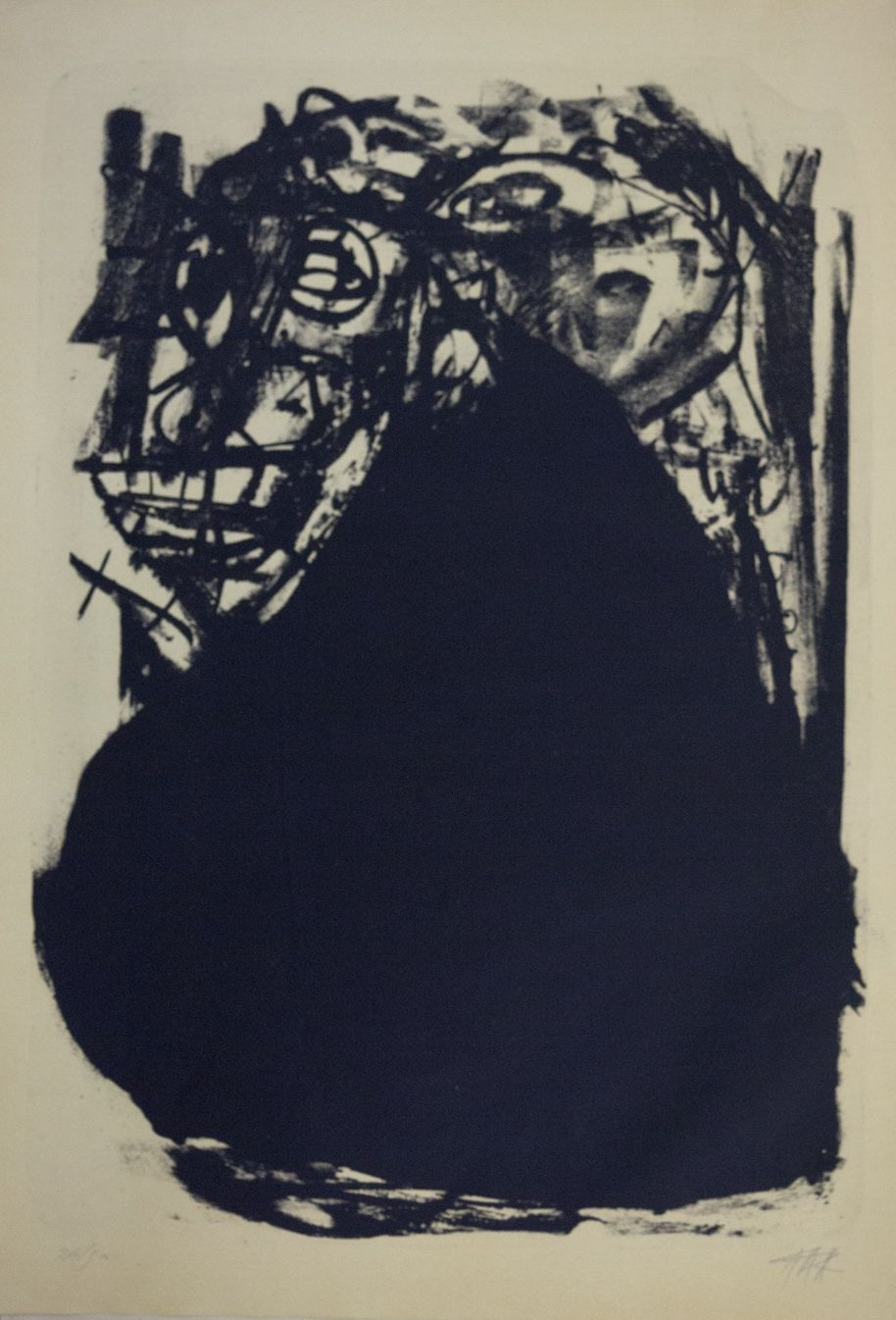 Don Simón, 1960 Litografía de Antonio Saura