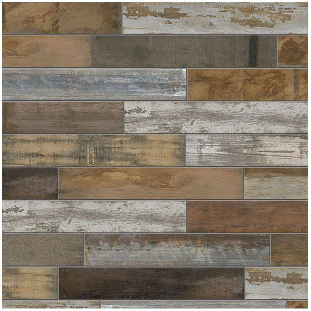 Home Depot Porcelain Floor U0026 Wall Tile: MARAZZI Flooring Montagna Wood  Vintage Chic 6 In. X 24 In. Porcelain Floor And Wall Tile (14.53 Sq. Ft. /  Case)