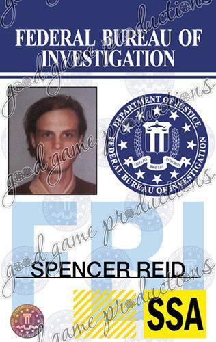 Criminal Id Badge Soooooo Minds Found This Etsy Happy I Costumes Reid On Spencer