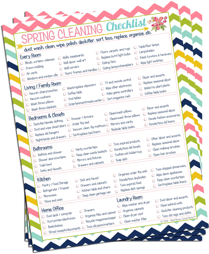 Spring Cleaning Checklist Free Template Download Spring Cleaning Checklist Printable Spring Cleaning Checklist Spring Cleaning List Printable