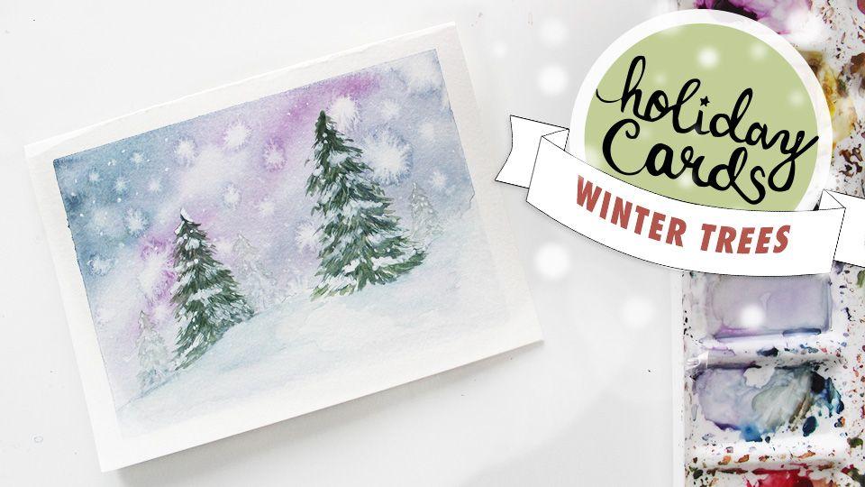 5 Diy Holiday Card Watercolour Tutorials Watercolor Christmas