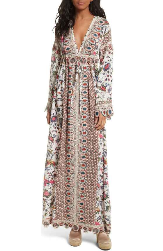 c60744898c8b6 Free shipping and returns on Tory Burch Amita Maxi Dress at ...