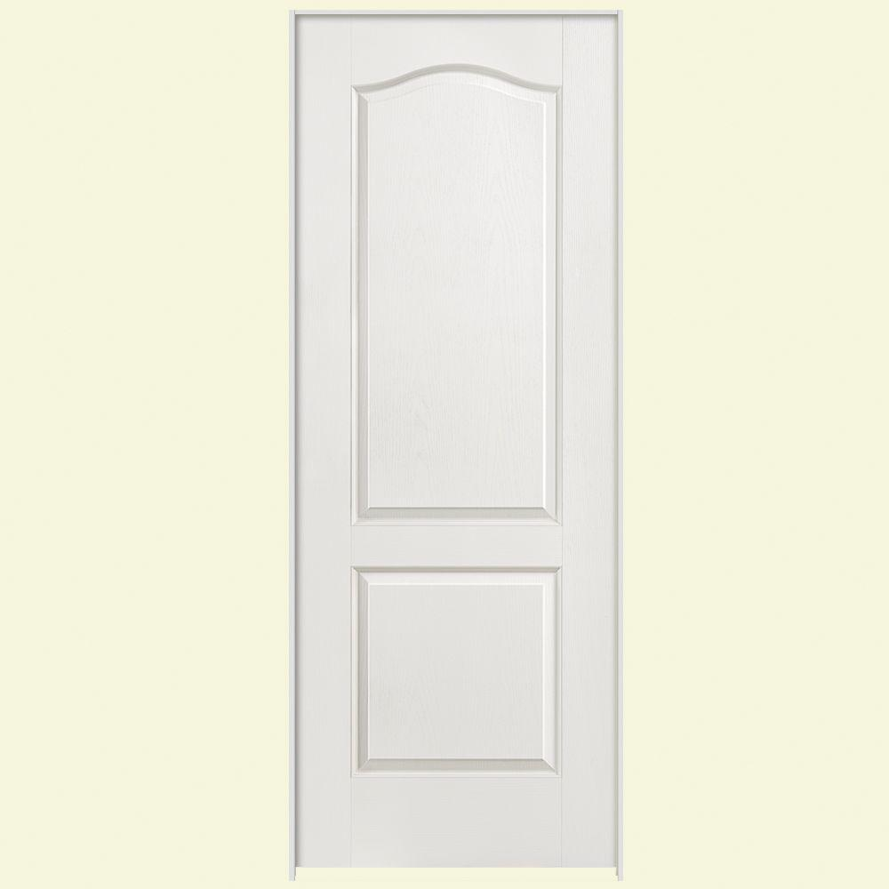 Masonite textured panel arch top hollow core primed composite single prehung interior door the home depot also in  right handed rh pinterest