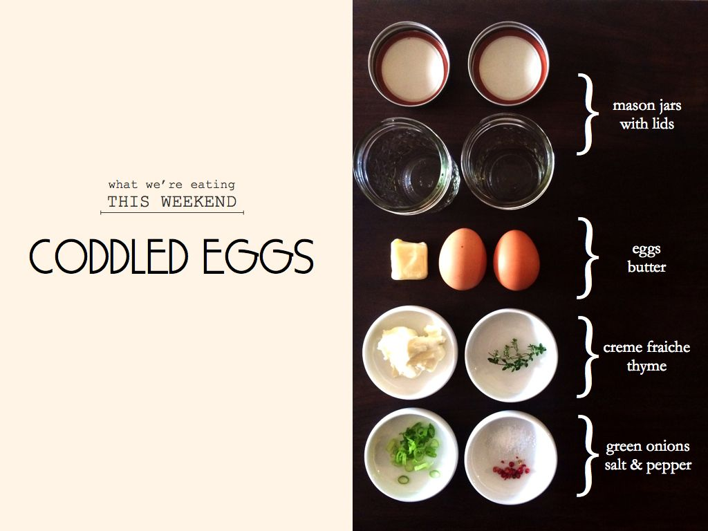 Coddled Eggs In Mason Jars Genius!
