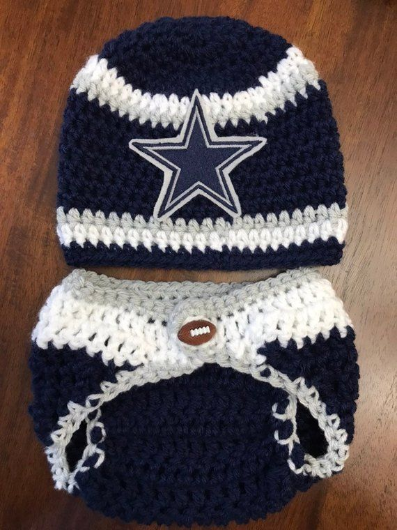 419652e5009 Football Team - Crochet Hat Diaper Cover Shoes - Football Photography Prop  - Baby Football Outfit -