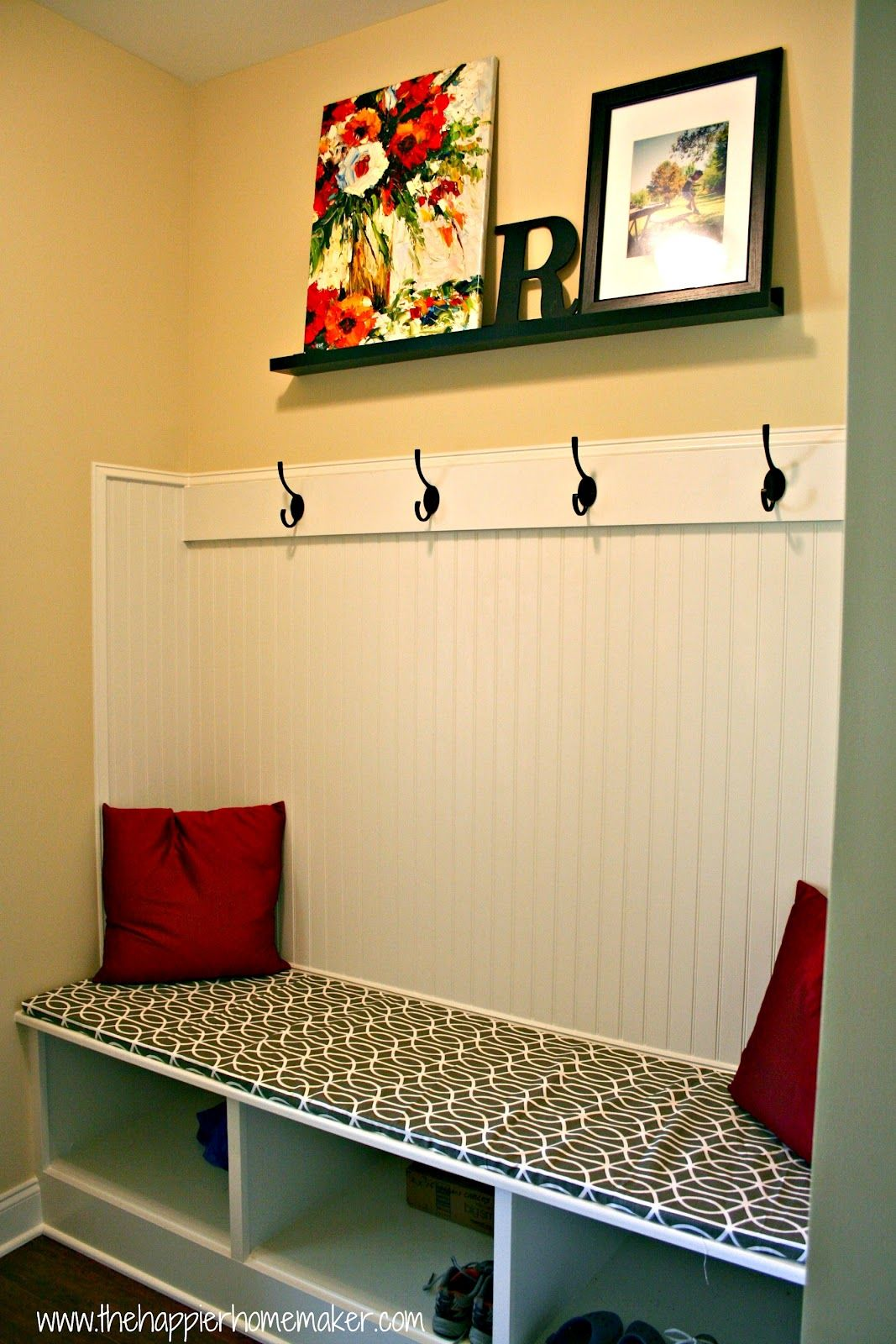 Fast Diy No Sew Bench Cushion Without Plywood The Happier