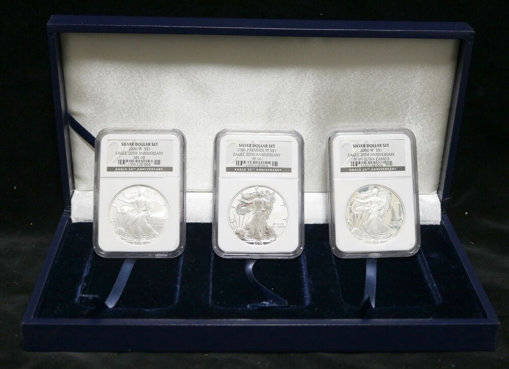 20 Eisenhower Uncirculated Silver Dollar BLUE IKE Plastic Mint Set Tokens CHIPS