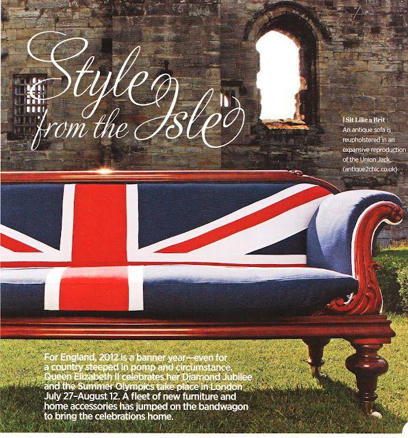 Union Jack + vintage sofa