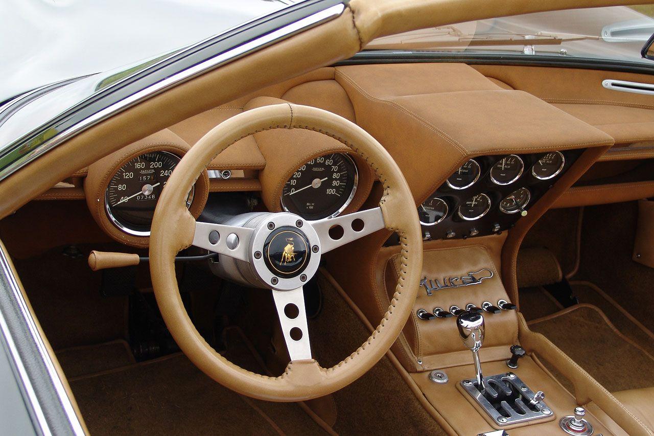 1968 Lamborghini Miura P400 Roadster Cockpits Lamborghini Cars