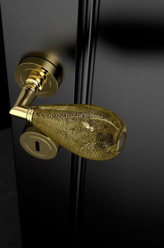 Poignée pour porte   en verre de Murano   classique GOCCIA Black - changer la serrure d une porte